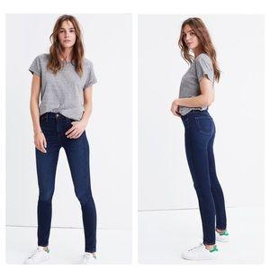 "NWOT Madewell 10"" High-Rise Skinny Jeans HayesWash"